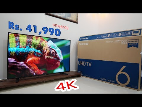 Samsung Smart 4K TV Rs. 41,990 (WOW), Certified UHD, NU6100 6 Series, Live Cast, HDR+