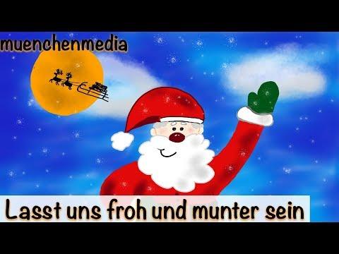 ⭐️ Lasst uns froh und munter sein - Weihnachtslieder deutsch | Nikolaus Lied | Kinderlieder deutsch