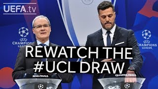 Rewatch the UEFA Champions League quarter-final, semi-final and final draws! Video