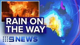 Heavy rain forecast for NSW, Victoria bushfire zones | Nine News Australia