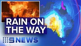 Heavy Rain Forecast For Nsw, Victoria Bushfire Zones | Nine News Australia
