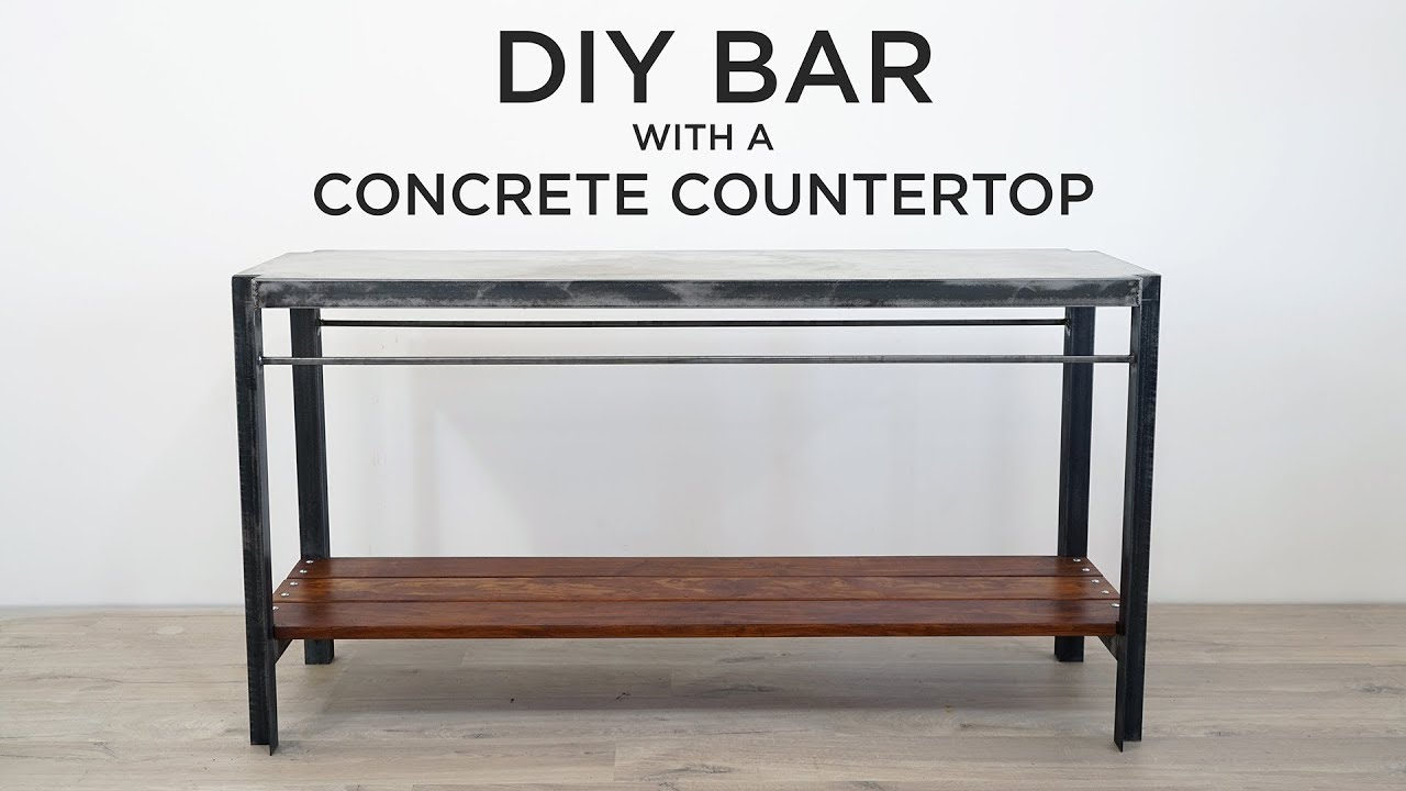 Diy Bar With Poured In Place Concrete Countertops