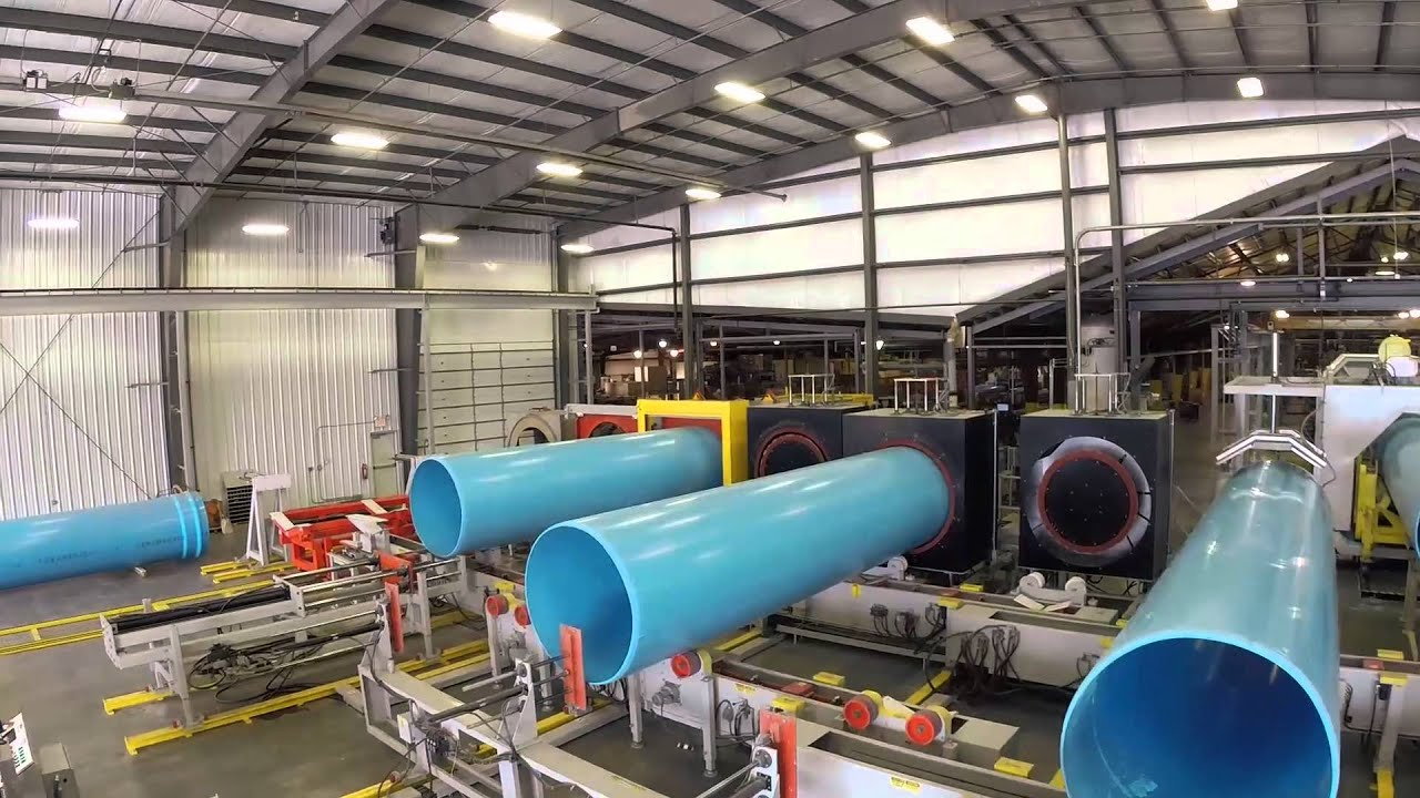 "Diamond Plastics PVC Pipe Plant Tour- 54"" and 60"" Line ..."