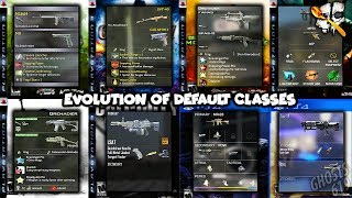 Using EVERY Default Class in EVERY Call of Duty