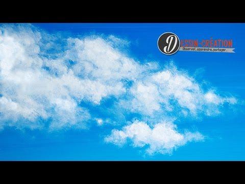 Comment peindre un ciel avec des nuages simplement youtube - Comment peindre avec un compresseur ...