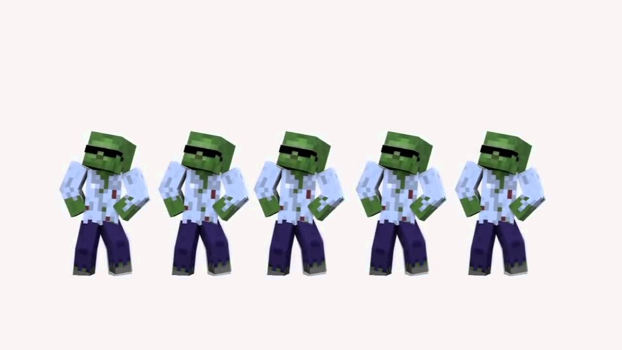 Gangnam style with dave minecraft 1 hr version youtube - Zombie style minecraft ...