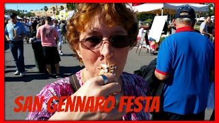 Eating at LIADO's 13th Annual San Gennaro Festa a Italian heritage Street Fair