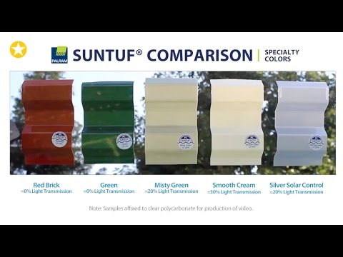 Suntuf Specialty Colors Comparison Youtube