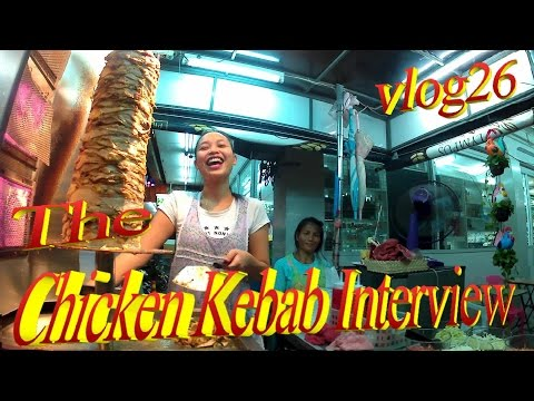 Pattaya 2016 , The Chicken Kebab Interview , Streetfood *vlog26*