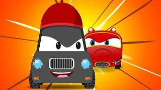 Red SuperCar Baby Rikki Chase Thief Car | Kids Cartoon Rhymes & Songs