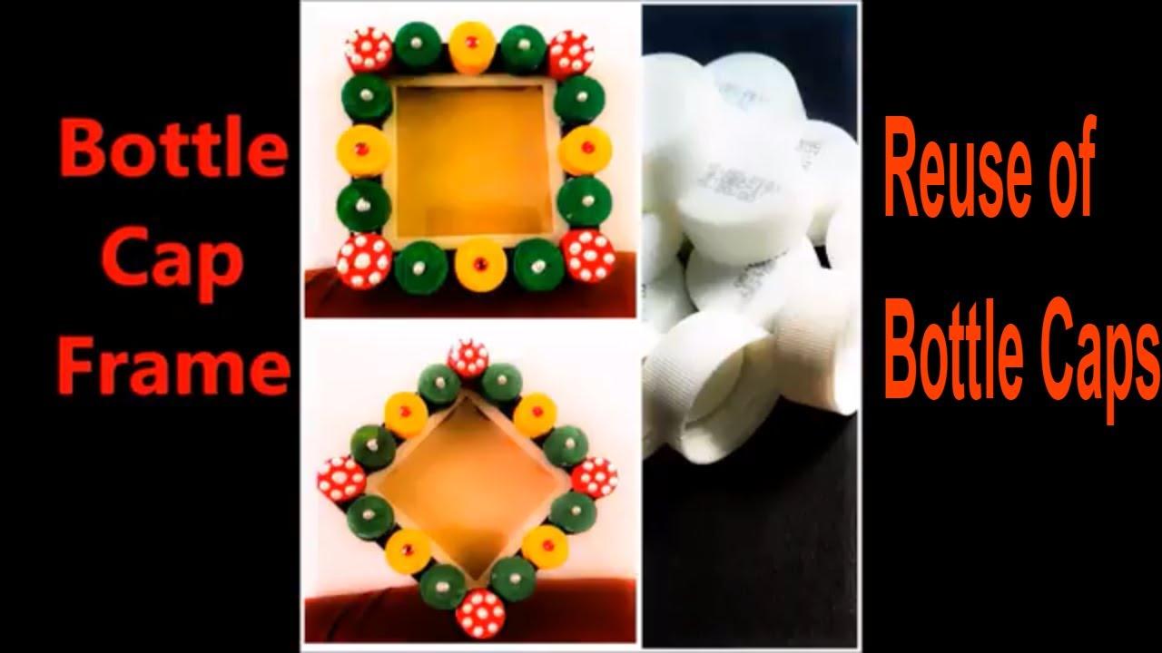 DIY How to make Photo Frame using Bottle Caps    Innovative Bottle ...