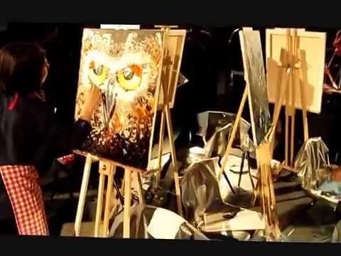 Live Event Artist - Art Battle 93 Markham, Ontario Canada - Portrait Artist, Olga Pankova