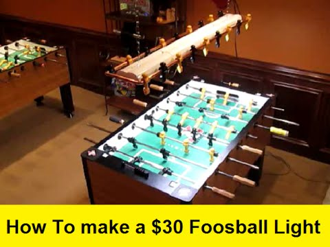 How To Make A Foosball Light YouTube - Foosball table light