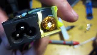 ремонт блоку живлення toshiba ADP-75SB
