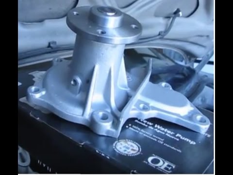 How to change the water pump in a 1994 Toyota Corolla 7AFE 1 8 4AFE 1 6