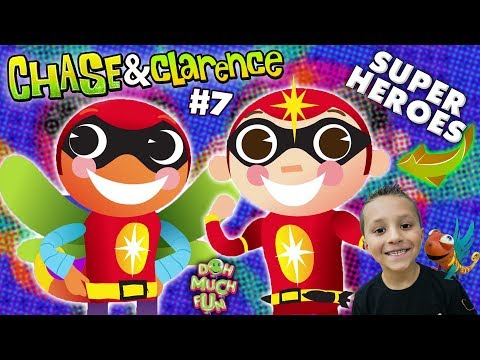 Chase & Clarence: SUPERHERO KIDS!  | DOH MUCH FUN Animated Shorts #7