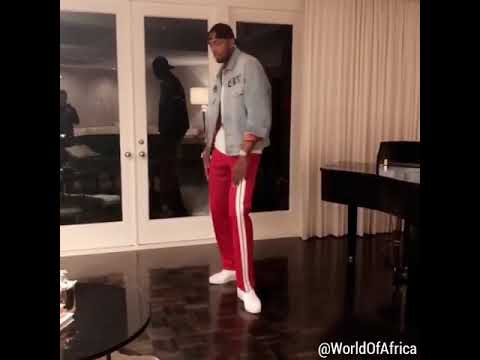 NBA player Serge Ibaka showing his African dance moves