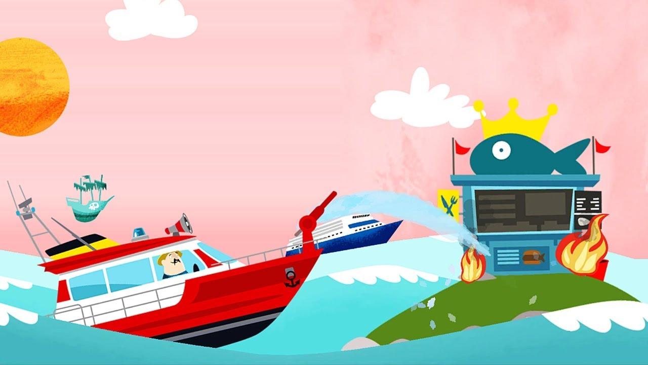 Lái Tàu Thủy, Trực Thăng, Xe Cứu Hỏa Chữa Cháy – Game Chữa Cháy Vui Nhộn