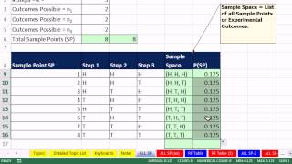 [21.15 MB] Excel 2013 Statistical Analysis #25: Probability Basics: Sample Points, Events & Event Probabilities