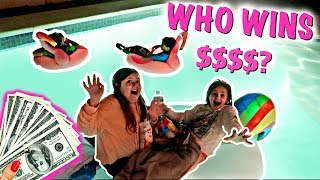 LAST TO FALL IN WINS $1000! ~ Mr Beast Challenge Kids Version