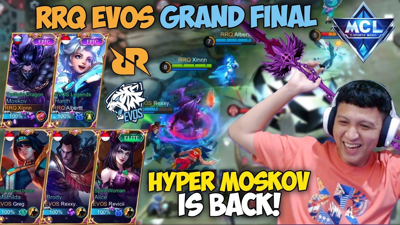 XINNN HYPER MOSKOV IS BACK !! RRQ DAN EVOS GRAND FINAL MCL CHAMPION !! BARU MAIN UDAH END !!