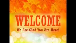 Free Fall Welcome Church Video(The radiant design charming this welcome video is cheerful and electric. The banner reading