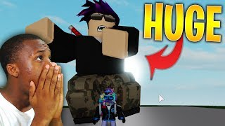 MY CHARACTER IS THE BIGGEST IN THE GAME **GIANT DANCE OFF SIMULATOR ROBLOX**
