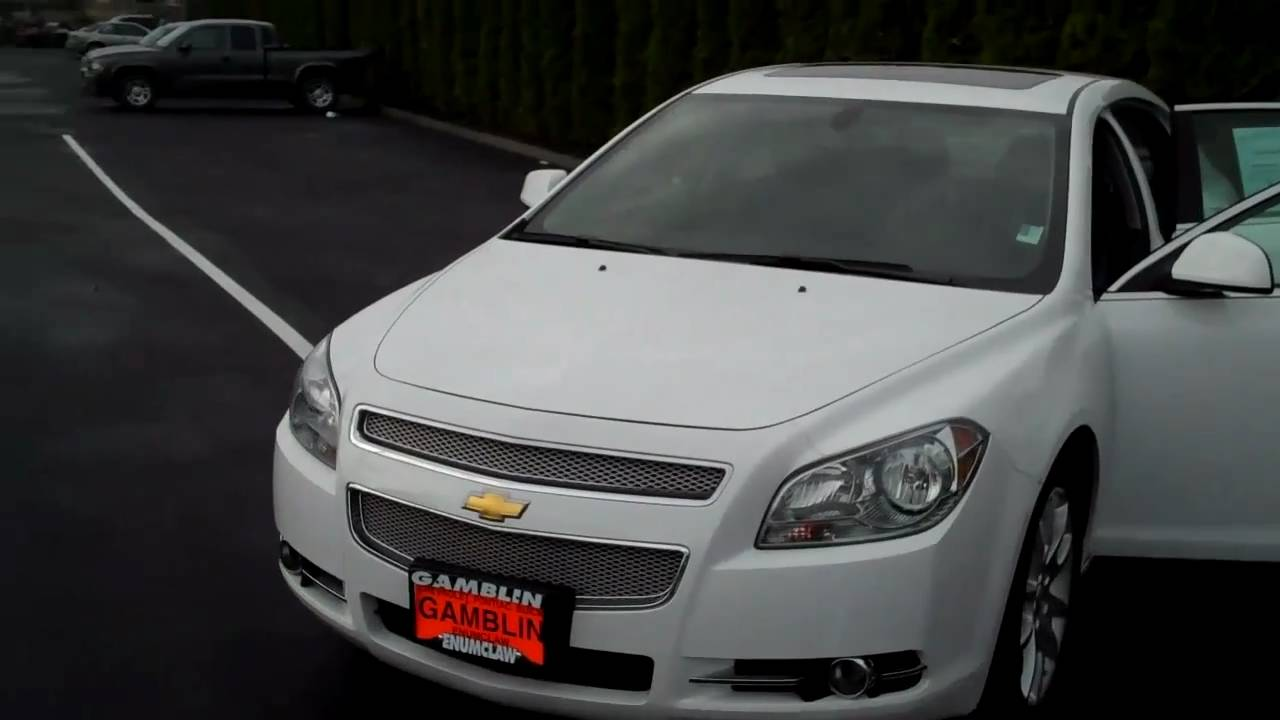 Malibu 2009 chevy malibu v6 : 2010 Chevrolet Malibu LTZ V6 White - Art Gamblin Motors Tim Smitty ...