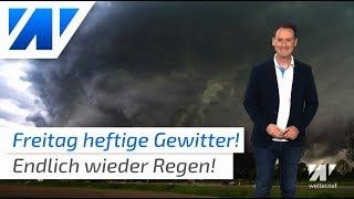 Unwetter mit Hagel und Starkregen!