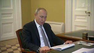 Смотреть видео Александр Беглов доложил Владимиру Путину о мерах социальной поддержки в Санкт-Петербурге. онлайн