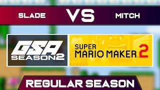 Slade vs mitchflowerpower | Regular Season | GSA SMM2 Endless Mode Speedrun League DB Season 2