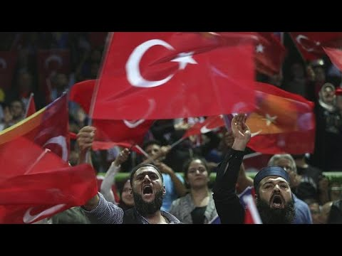 Turkey's President Erdogan holds an election rally in Saraje