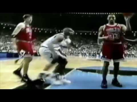 Pippen + Jordan Defense on Penny Hardaway 1996 ECF Game 3