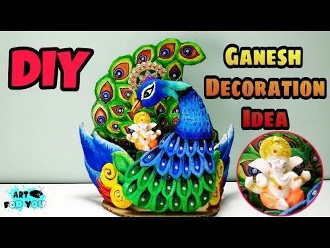 New Idea For Ganesh Decoration 2018 | ganpati decoration ideas for home | ganpati sajavat