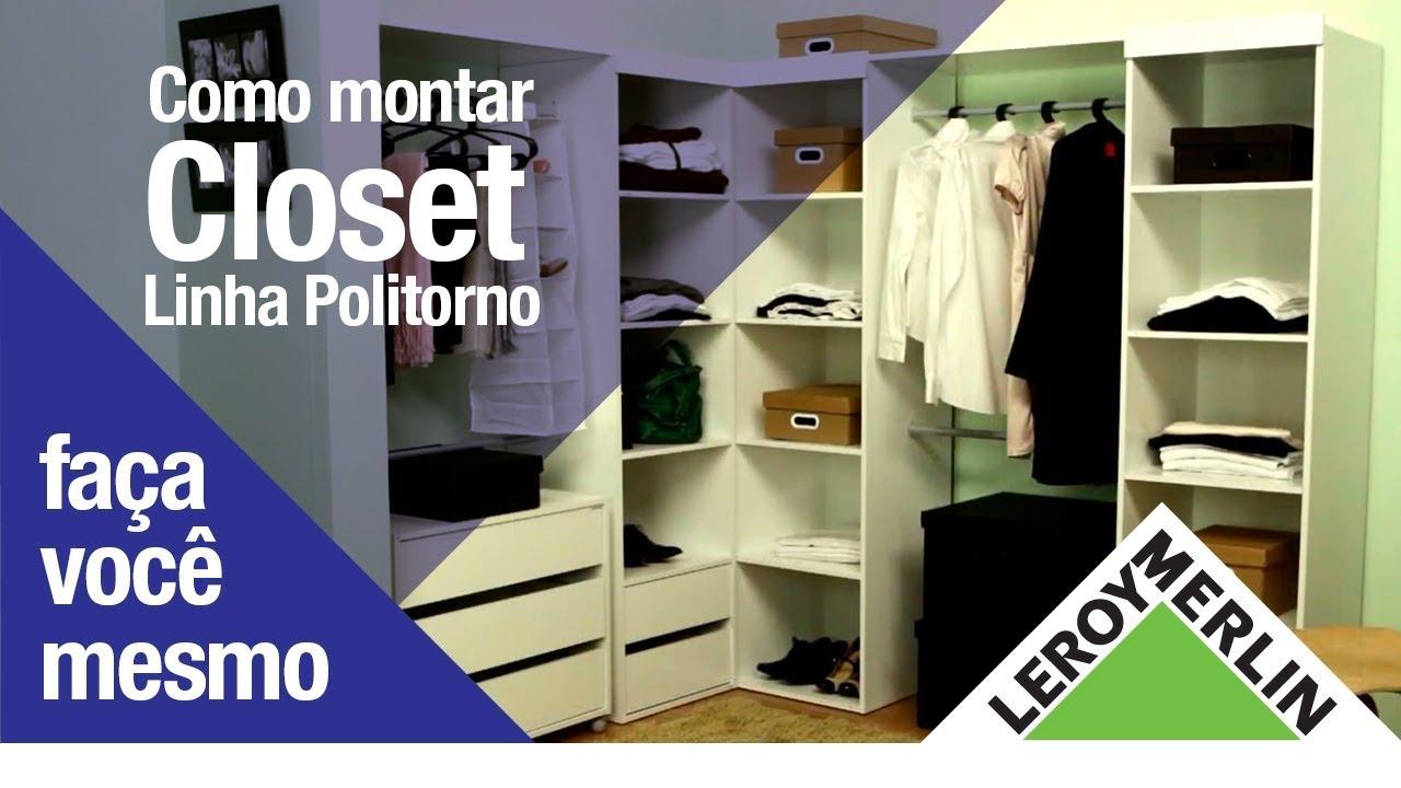 O closet ideal linha politorno leroy merlin youtube - Tablette spaceo leroy merlin ...