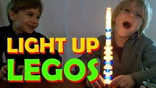Lego Lights! Light Up Lego Bricks from Light Stax! SuperTwins TV Toy Review
