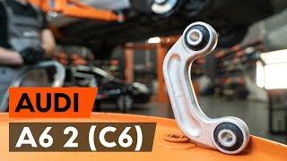 Kaip pakeisti priekinių stabilizatoriaus traukė AUDI A6 2 (C6) [AUTODOC PAMOKA]
