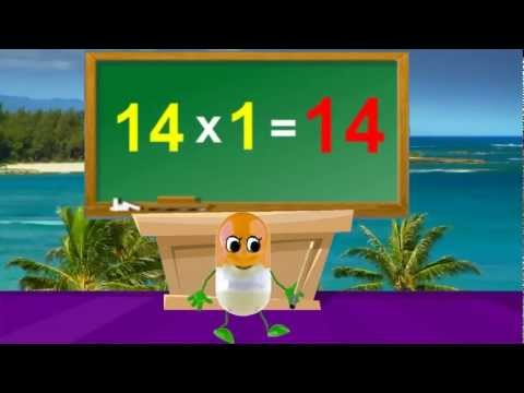 Tutorial Math  14 Times Table  Kids Songs With Lyrics