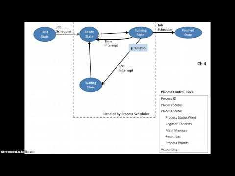 CISY 217 Ch 4 Process State Diagram