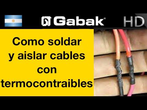 Como soldar con esta o y aislar cables con - Como camuflar cables ...