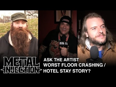 ASK THE ARTIST: Your Worst Floor Crashing / Hotel Experience on Tour? | Metal Injection
