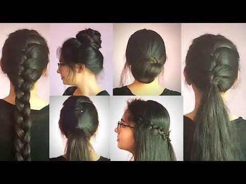 7-different-hairstyle-for-1-week-|-for-medium-to-long-hair-|preksha-jain