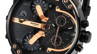 DIESEL DZ7350 MENS WATCH MR.DADDY 2.0 CHRONO BLACK LEATHER REVIEW ディーゼル ブラック レザー レビュー メンズ