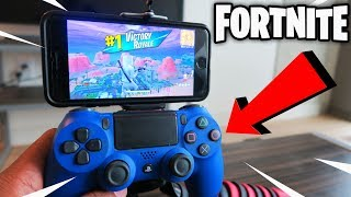 How to Play Fortnite with Controller on iPhone/Android Device! (Is it easier to win?) | WORKING 2019
