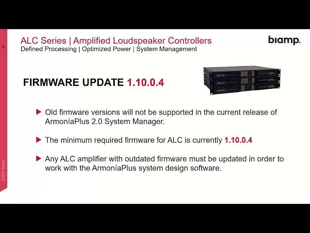 Community Amplified Loudspeaker Controllers & ArmoníaPlus Overview Webinar