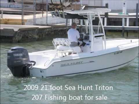 2009 21 foot sea hunt triton 207 fishing boat for sale for Small used fishing boats for sale