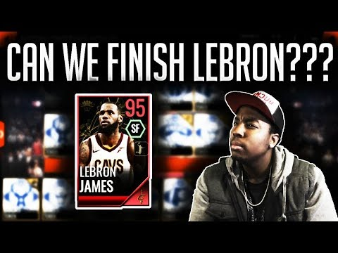 FINISHING UP THE 95 OVR ROYALTY LEBRON JAMES ON NBA LIVE MOBILE 18