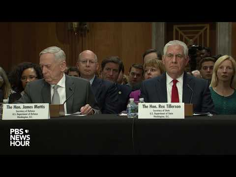 WATCH LIVE: Tillerson, Mattis testify before Senate Foreign Relations Committee