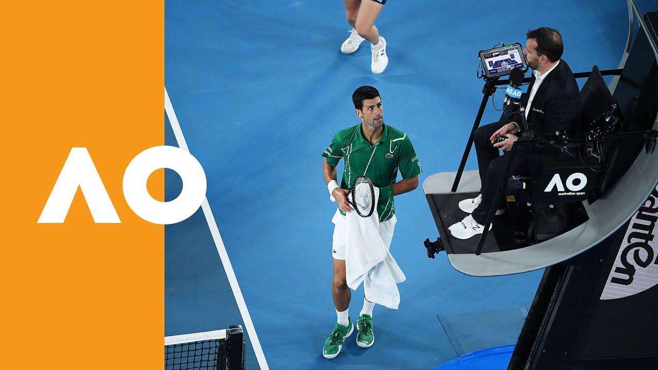 Novak Djokovic Puts The Umpire On The Back Foot Australian Open 2020 Final Youtube