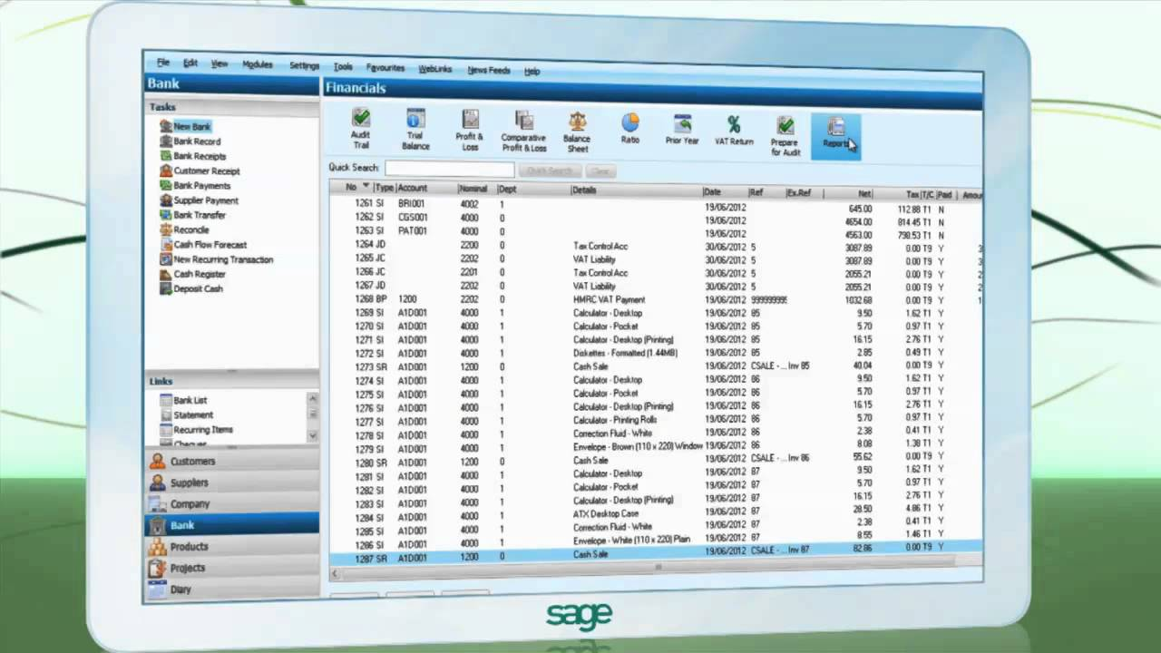 Sage 50 2013 Microsoft Excel Integration